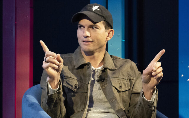 Actor Ashton Kutcher at a media event hosted by AT&T, on July 14, 2021, in New York. (AP Photo/Mark Lennihan)