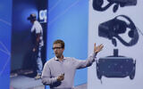 FILE - In this Thursday, March 26, 2015, file photo, Chief Technology Officer Mike Schroepfer talks about virtual reality while delivering a keynote address at the Facebook F8 Developers Conference, in San Francisco.  (AP Photo/Eric Risberg, File)