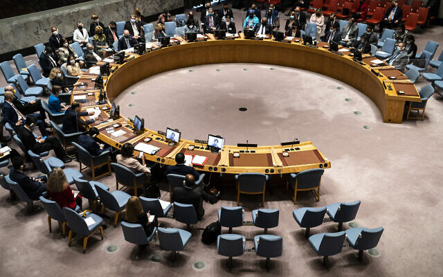 File: A meeting of the United Nations Security Council on Sept. 23, 2021 (AP Photo/John Minchillo, Pool)