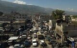 A bird's eye view of downtown Port-au-Prince, Haiti, September 30, 2021. (AP Photo/Rodrigo Abd)