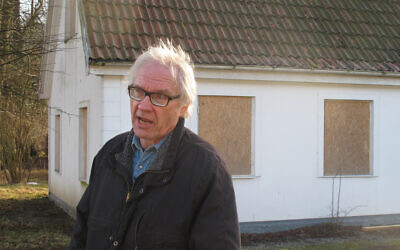 Swedish artist Lars Vilks speaks during an interview with The Associated Press in Malmo, Sweden, Wednesday March 4, 2015. Vilks, who had lived under police protection since his 2007 sketch of the Prophet Muhammad with a dog's body brought death threats, died from a traffic accident Sunday, Oct. 3, 2021 Swedish news media reported. (AP Photo/David Keyton)