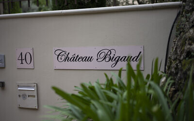 A view of the entrance of the Chateau Bigaud, in Mougins, southern France, October 4, 2021. An investigation found that in 2009, Andrej Babis, the Czech prime minister, put $22 million into shell companies to buy the property near Cannes. (Daniel Cole/AP)