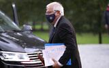 European Union foreign policy chief Josep Borrell arrives for a dinner, prior to an EU summit, at the Brdo Castle in Kranj, Slovenia, October 5, 2021. (Darko Bandic/AP)