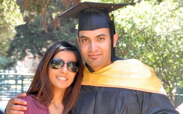 Abdulrahman al-Sadhan poses with his sister Areej Al Sadhan for a graduation photo, at Notre Dame de Namur University, a private Catholic university, in Belmont, California, May 4, 2013. (Family of Abdulrahman al-Sadhan via AP)