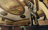 A statue of Thomas Jefferson, right, stands in New York's City Hall Council Chamber, on July 14, 2010. (AP Photo/Richard Drew, File)