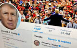 FILE - In this June 27, 2019, file photo, then US president Donald Trump's Twitter feed is shown on a computer, in New York. (AP Photo/Jenny Kane, File)