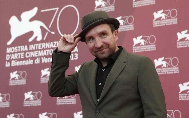 Actor Eddie Marsan poses for photographers during the 70th edition of the Venice Film Festival, in Italy, on September 3, 2013. (AP Photo/David Azia)