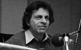 Mort Sahl, comedian, during taping at WRC studios in Washington December 6, 1978.  (AP)