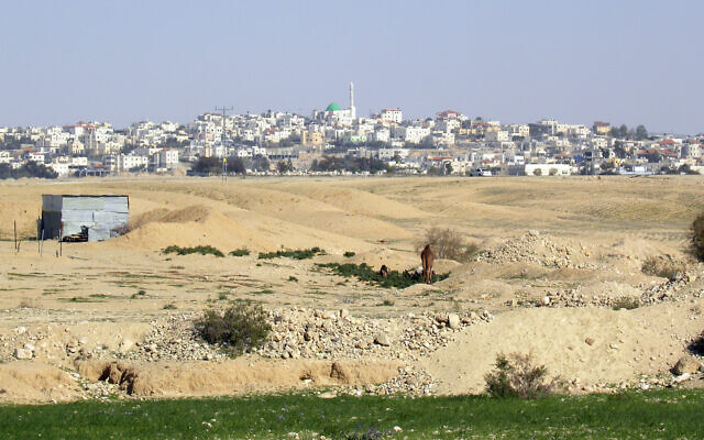 A view of the Bedouin town of Ar'arat an-Naqab (CC Wilson44691/Wikipedia)
