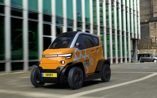 A City Transformer CT1 vehicle with the United Hatzalah colors and logo. (Illustration - City Transformer)
