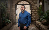 Real estate developer Eldad Peri poses for a picture in Jerusalem on February 26, 2018. (Yonatan Sindel/Flash90)