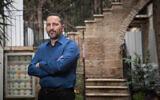 Real estate developer Eldad Peri poses for a picture in Jerusalem, on February 26, 2018. (Yonatan Sindel/Flash90)