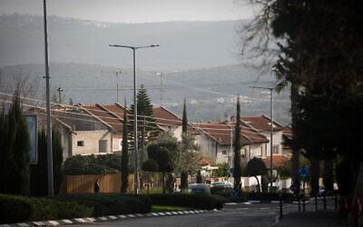 View of the northern Israeli city of Ma'alot-Tarshiha, on February 7, 2019. (Courtesy Hadas Parush/Flash90)