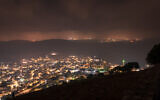 View of the Arab village of Daburiyya as seen from Mount Tabor on July 27, 2019 (Mila Aviv/Flash90)