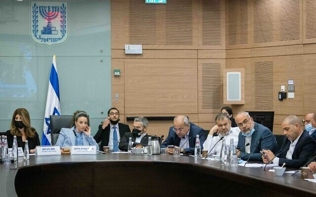 Idit Silman, head of the Arrangements Committee at the Knesset in Jerusalem, on June 28, 2021 (Yonatan Sindel/Flash90)