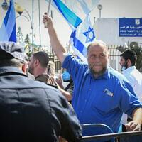 Benzi Gopstein, chairman of the far-Right group Lehava seen in Kfar Qasim, October 5, 2021. (Yossi Zeliger/Flash90)