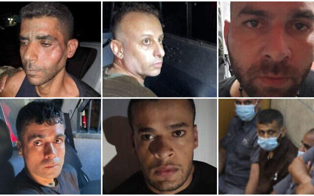 Clockwise from top left: Zakaria Zubeidi, Yaquob Qadiri, Iham Kamamji, Mahmoud al-Arida and Munadil Nafiyat Courtesy) and Mohammed al-Arida (Flash 90)