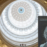 Holocaust novel 'Number the Stars,' is seen over a view of The Texas State Capitol rotunda (Tamir Kalifa/Getty Images/JTA)
