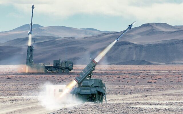 A SPYDER surface-to-air missile is fired in a test in an undated photograph. (Defense Ministry)