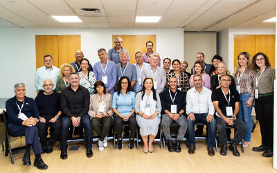 The delegation of Israeli mayors and municipal CEOs that visited New York from October 11-18, 2021. (Ohad Kab)