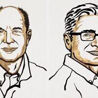 Nobel prize winners David Julius and Ardem Patapoutian. (NIKLAS ELMEHED / NOBEL PRIZE OUTREACH)
