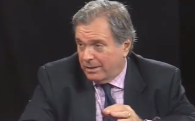 Former AIPAC executive director Neal Sher speaks on a panel in October 2011. (Screen capture/YouTube)