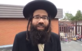 Lev Tahor spokesman Uriel Goldman on February 28, 2018. (Screen capture/YouTube)