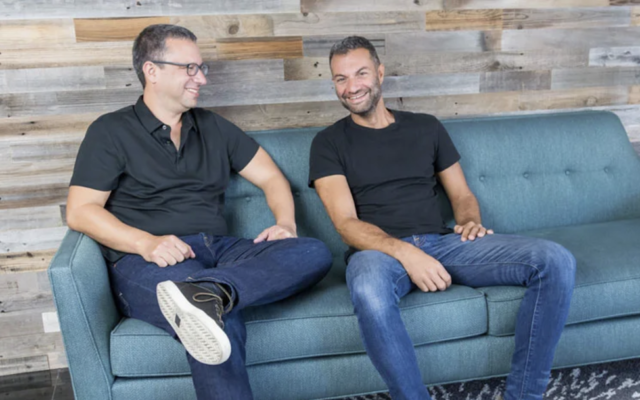 TripActions founders Ariel Cohen,  CEO, on the left, and Ilan Twig on the right. (Courtesy)