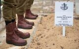 The grave of Martin Davidovich, the man named by the Israel Defense Forces as the nation's first fallen paratrooper, at Jerusalem's Mount Herzl military cemetery, on October 28, 2021. (IDF)