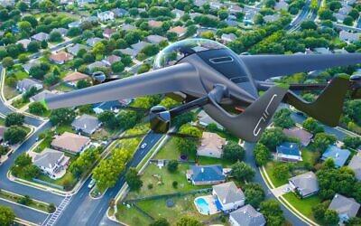 The AIR one eVTOL aircraft by Israeli startup AIR. (Courtesy/AIR)