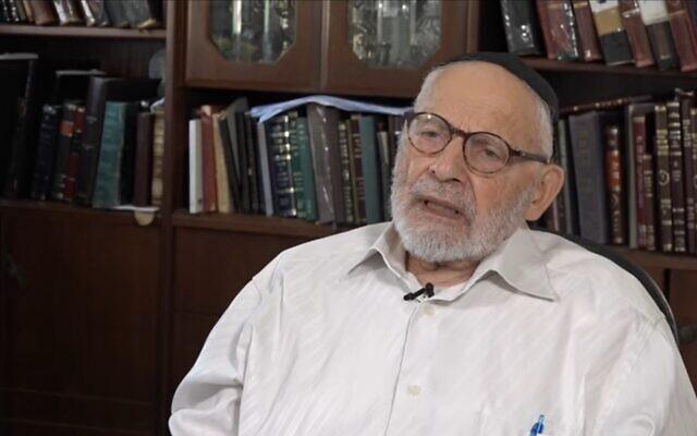 David Sompolinsky in 2018. (Screenshot/YouTube)