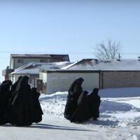 Illustrative -- Lev Tahor women and girls in Canada (Screen grab/YouTube)