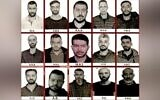Photos of 15 men alleged to be Mossad agents, published by the Turkish Sabah daily on October 25, 2021. (Screenshot)