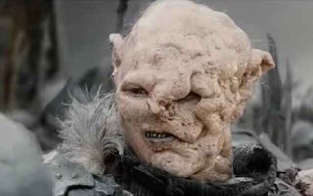 Illustrative photo of a 'Lord of the Rings' orc (YouTube screenshot)