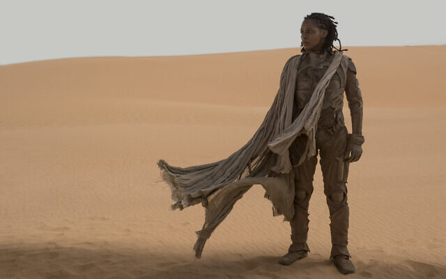 Sharon Duncan-Brewster as Liet Kynes in 'Dune.' (Courtesy of Warner Bros. Pictures and Legendary Entertainment)