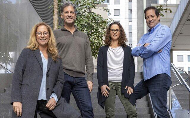TLV Partners is managed by (left to right) Rona Segev, Eitan Bek, Adi Yarel-Toledano, and Shahar Tzafrir. (Eyal Tueg)
